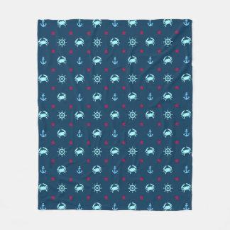 Nautical Star Pattern Fleece Blanket