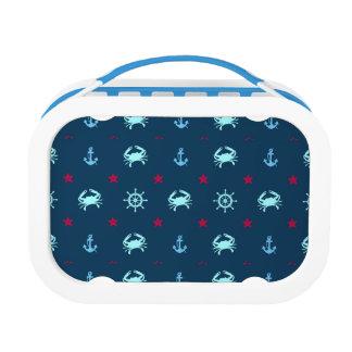 Nautical Star Pattern Lunch Box
