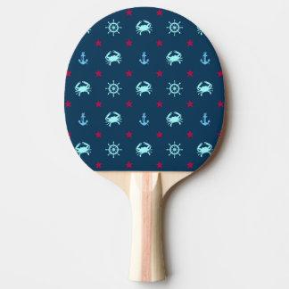 Nautical Star Pattern Ping Pong Paddle