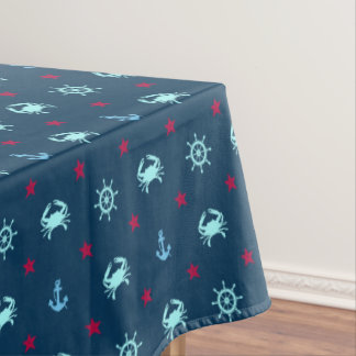 Nautical Star Pattern Tablecloth