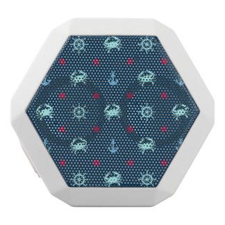 Nautical Star Pattern White Bluetooth Speaker