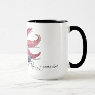 nautical starfish beach mug