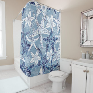 Nautical Starfish Collection Shower Curtain