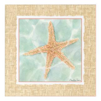 Nautical Starfish in Water Acrylic Wall Art