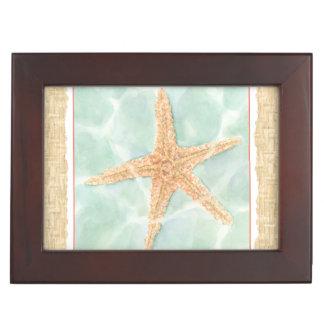 Nautical Starfish in Water Keepsake Box