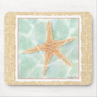 Nautical Starfish in Water Mouse Mat
