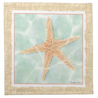Nautical Starfish in Water Napkin