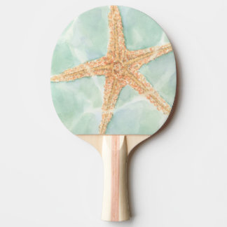 Nautical Starfish in Water Ping Pong Paddle