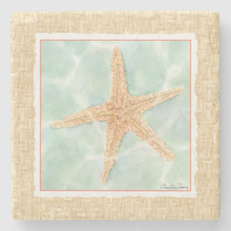 Nautical Starfish in Water Stone Coaster