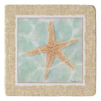 Nautical Starfish in Water Trivet