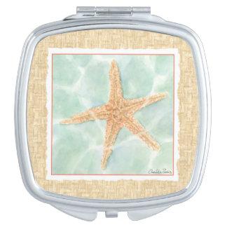 Nautical Starfish in Water Vanity Mirrors
