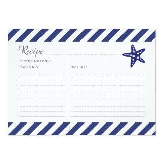 Nautical Starfish Recipe Card