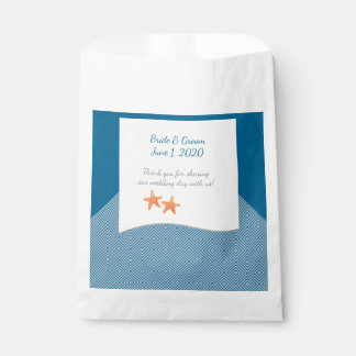 Nautical Starfish Wedding Favor Bags Favour Bags