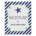 Nautical Starfish Welcome Poster Print