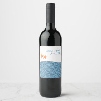 Nautical Starfish Wine Bottle Labels