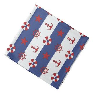 Nautical Stars And Stripes Pattern Bandana