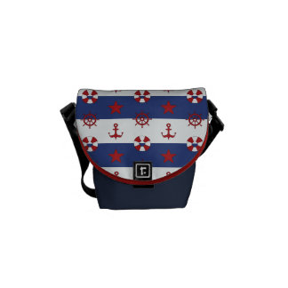 Nautical Stars And Stripes Pattern Courier Bags