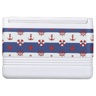 Nautical Stars And Stripes Pattern Igloo Cool Box