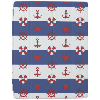Nautical Stars And Stripes Pattern iPad Cover