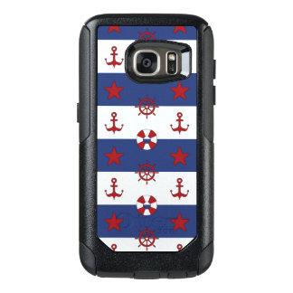 Nautical Stars And Stripes Pattern OtterBox Samsung Galaxy S7 Case