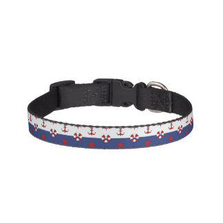Nautical Stars And Stripes Pattern Pet Collar