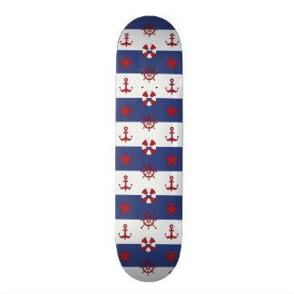 Nautical Stars And Stripes Pattern Skate Deck