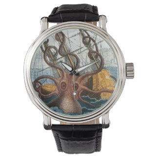 Nautical | Steampunk Kraken Octopus Giant Squid Wristwatch