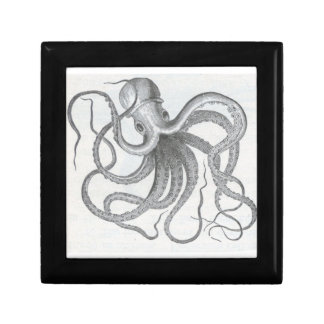 Nautical steampunk octopus jewelry keys gift box