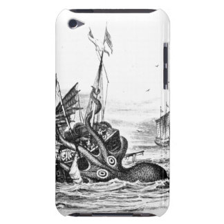 Nautical steampunk octopus vintage kraken drawing iPod touch cases