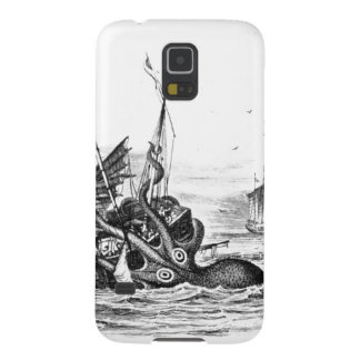 Nautical steampunk octopus vintage kraken drawing cases for galaxy s5