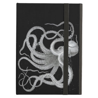 Nautical Steampunk Octopus Vintage Kraken Drawing iPad Air Covers