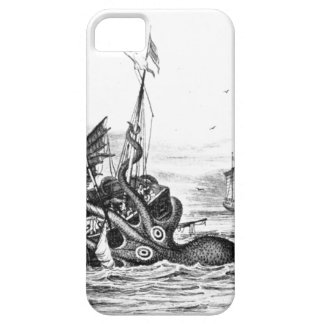 Nautical steampunk octopus vintage kraken drawing iPhone 5 case