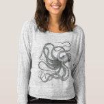Nautical steampunk octopus Vintage kraken drawing Tshirts