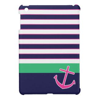 Nautical Stripes and Anchor iPad Mini Case