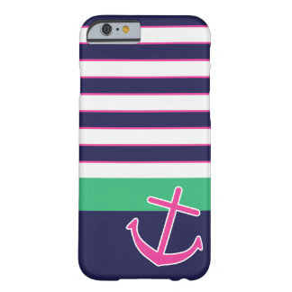 Nautical Stripes and Anchor iPhone 6 case Barely There iPhone 6 Case