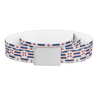 Nautical Stripes And Dots Pattern Belt