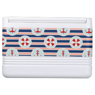 Nautical Stripes And Dots Pattern Igloo Cool Box