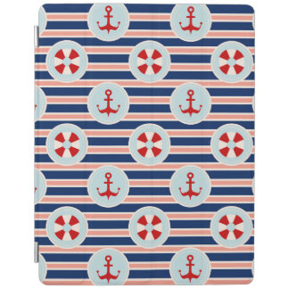 Nautical Stripes And Dots Pattern iPad Cover