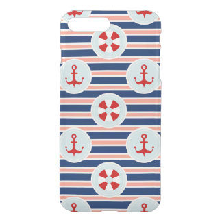 Nautical Stripes And Dots Pattern iPhone 8 Plus/7 Plus Case