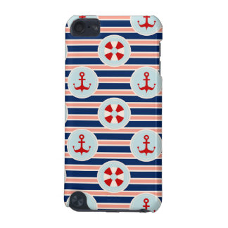 Nautical Stripes And Dots Pattern iPod Touch (5th Generation) Cover