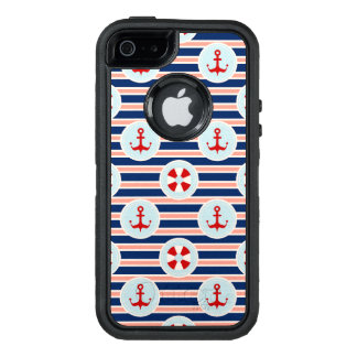 Nautical Stripes And Dots Pattern OtterBox iPhone 5/5s/SE Case