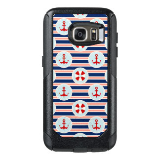 Nautical Stripes And Dots Pattern OtterBox Samsung Galaxy S7 Case
