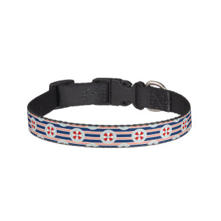 Nautical Stripes And Dots Pattern Pet Collar