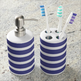 Nautical Stripes Bathroom Set