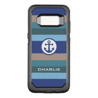 Nautical Stripes custom monogram phone cases