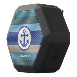 Nautical Stripes custom monogram speaker