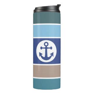 Nautical Stripes custom monogram tumbler