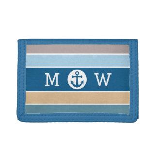 Nautical Stripes custom monogram wallets