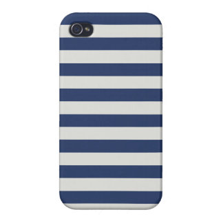 Nautical Stripes Navy White Case For The iPhone 4