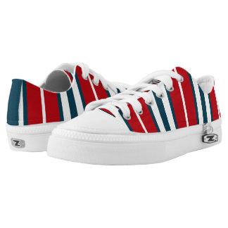 Nautical stripes printed shoes